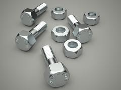 nuts and bolts - stock illustration