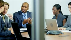 Frustrated Manager Multi Ethnic Business Team Meeting Stock Footage