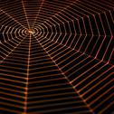 Stock Photo of painted spiderweb