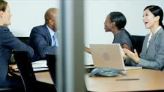 Good News Successful Multi Ethnic Financial Team - stock footage