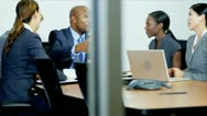 Multi Ethnic Business Consultants Congratulations Stock Footage