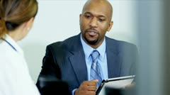 Hospital Doctors Meeting Financial Consultant Stock Footage