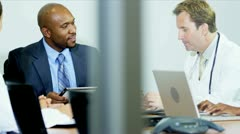 Team Meeting Multi Ethnic Medical Executives Stock Footage