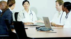 Meeting Budget Committee Young Hospital Consultants Stock Footage