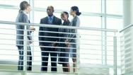 Ambitious multi ethnic business people Stock Footage