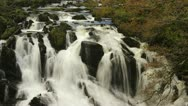Timelapse of swallow falls, waterfall in wales in autumn Stock Footage