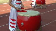 Drumming juvenile Stock Footage