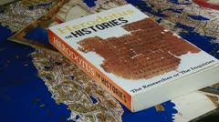 Book, Herodotus, Histories Stock Footage