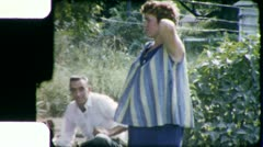 Nine Months PREGNANT Woman 1960s Vintage 8mm Film Home Movie 5737 Stock Footage
