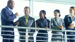 Multi Ethnic business manager  Stock Footage