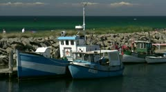 Fishing Boats in Kühlungsborn - Baltic Sea, Northern Germany Stock Footage