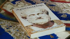 Book, Aristotle, Metaphysics Stock Footage