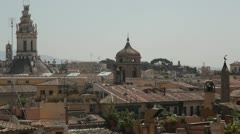 Rome panoramic view - stock footage