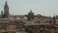 Rome panoramic view Stock Footage