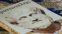 Stock Video Footage of Book, Aristotle, Metaphysics, close