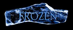 Word frozen frozen in the ice Stock Illustration