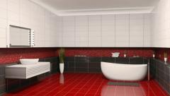 Bathroom interior creation - stock footage