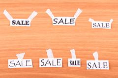 Stock Photo of sale on the wall