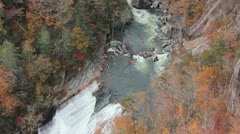 Kayakers at Tallulah Gorge Stock Footage
