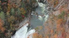 Kayakers at Tallulah Gorge - stock footage