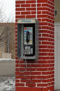 Old public pay telephone Stock Photos
