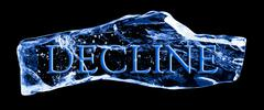 Stock Illustration of word decline frozen in the ice