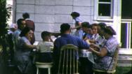 Stock Video Footage of FAMILY EATING TOGETHER 1960s (Vintage Retro Film Home Movie Footage) 5740
