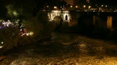 Ponte Cestio bridge in Rome - stock footage