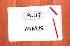 word plus - stock photo