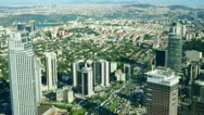 Stock Video Footage of Aerial view to modern buildings in the Istanbul city, Turkey