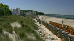 Heiligendamm in Mecklenburg - Baltic Sea, Northern Germany Stock Footage