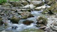 Stock Video Footage of Beautiful mountain river flowing down through the rocks.
