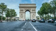 Stock Video Footage of Arc de Triomphe Day to Night