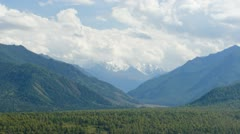 Time-lapse of landscape view to the beautiful Belukha glacier in Altai Stock Footage
