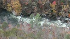 Stock Video Footage of Tallulah Gorge (pan)