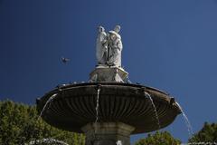 fountain in aix en provence - stock photo