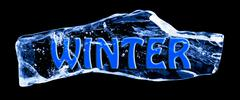 Stock Illustration of word winter frozen in the ice