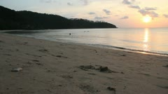 Beautiful Beach, sunset Stock Footage