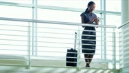 African American businesswoman using wireless tablet  Stock Footage