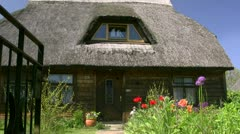 Old Thatched Roof House - Baltic Sea, Northern Germany Stock Footage