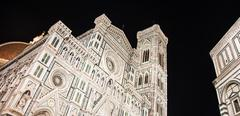 florence duomo by night - stock photo