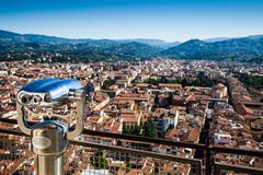florence panoramic view - stock photo