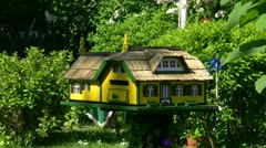 Miniature House on Darss Peninsula - Baltic Sea, Northern Germany Stock Footage