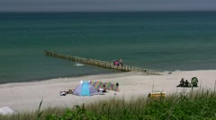 Summertime at the Beach - Baltic Sea, Northern Germany Stock Footage