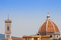 florence duomo view - stock photo