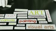 Stock Video Footage of Art terms, words, time lapse