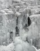 frozen waterfall - stock photo