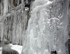 wintery ice - stock photo
