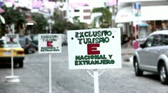 Tourism only shopping area Puerto Vallarta Mexico HD 3816 Stock Footage