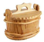 wooden busket - stock photo